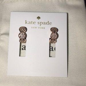 Kate Spade Rose Gold Gatsby Dot Earrings